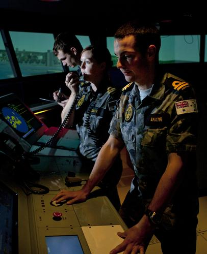 Royal Australian Navy training simulator 2011 - The opening of the simulator at HMAS Watson in Sydney