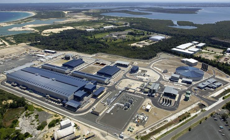 Sydney Water's desalination plant at Kurnell, Sydney.