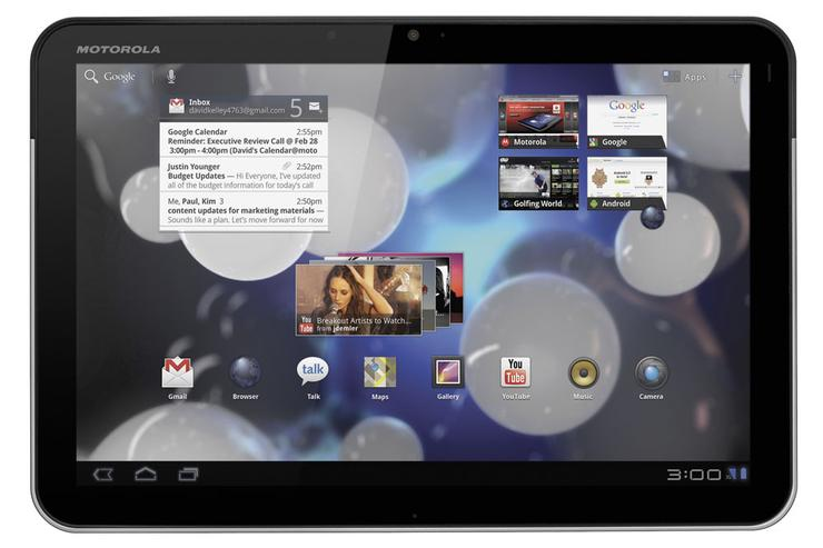 The Motorola Xoom tablet will be available in Australia from Telstra and Optus.