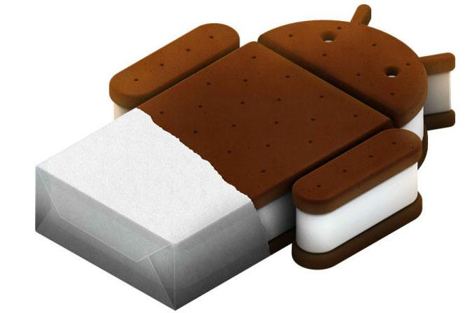 The logo for the Ice Cream Sandwich version of Google Android.