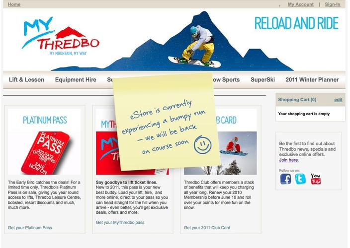 Snowed under ... Thredbo's online store