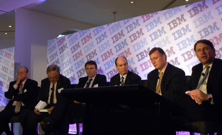 IBM Australia managing directors past and present (left to right): Brian Finn, Bob Savage, David Thodey (Telstra CEO), Philip Bullock, Glenn Boreham and Andrew Stevens (present)