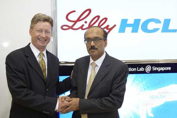 Eli Lilly senior vice-president and CIO, Michael C Heim, and HCL president and head of APAC- MEA region, Virender Aggarwal