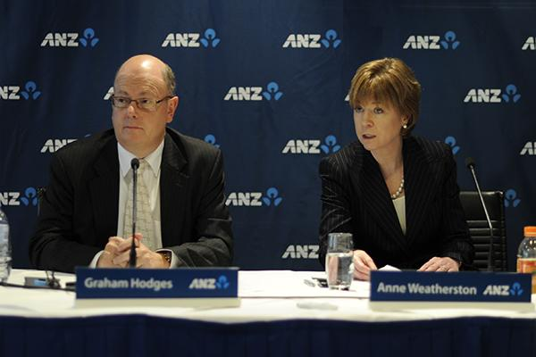 ANZ Bank Deputy CEO, Graham Hodges, and CIO, Anne Weatherston