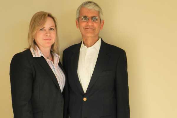 NBN Co CIO, Claire Rawlins with mentor and former BT colleague, Al-Noor Ramji