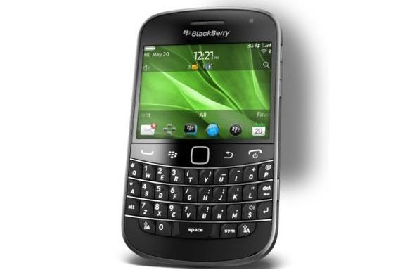 The BlackBerry Bold 9900, available from Telstra on 1 November. Optus has been offering the smartphone since 1 September, 2011.