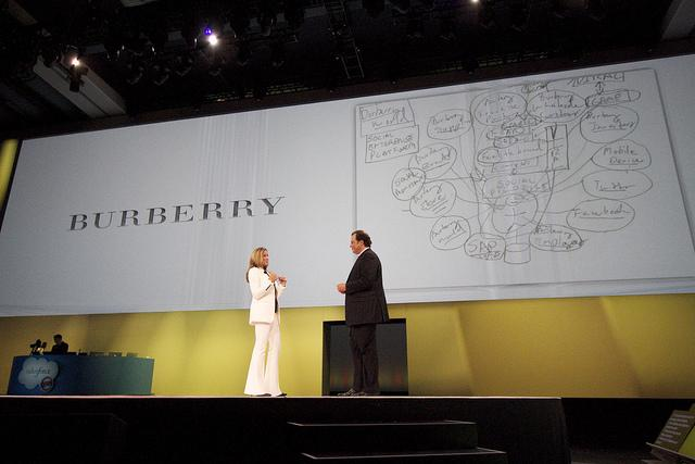 Marc Benioff and Angela Ahrendts talk about the Burberry social strategy Image: Salesforce.com