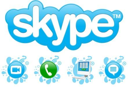 Skype logo and icons.