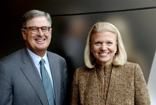 "Samuel J. Palmisano and Virginia M. ""Ginni"" Rometty at IBM's corporate headquarters in Armonk, N.Y. Rometty, an IBM senior vice president, was elected by the IBM board of directors to become the company's president and ninth CEO on January 1, 2012. Palmisano, currently IBM chairman, president and CEO, has significantly transformed IBM. During his tenure as CEO, the company has delivered record financial performance and breakthrough innovations, such as Watson. Mr. Palmisano will remain IBM's chairman."