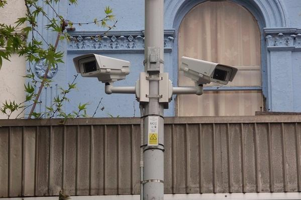 Two of the fixed Axis cameras monitoring an area of Footscray, Melbourne.