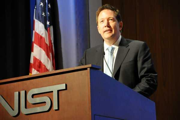 US chief information officer, Steve VanRoekel, addresses the Cloud Computing Forum & Workshop IV on the debut of NIST's Cloud computing technology roadmap.