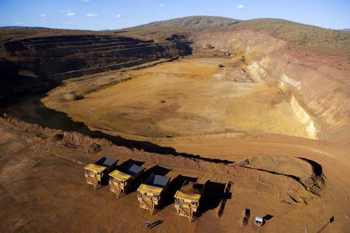 Rio Tinto iron ore mine operations in the Pilbara
