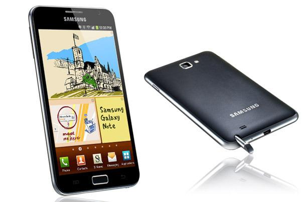 The Samsung Galaxy Note Android phone