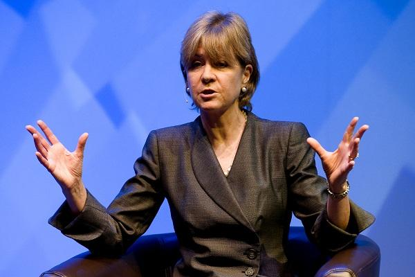 ANZ Banking Group CIO, Anne Weatherston, during her Gartner Symposium keynote.