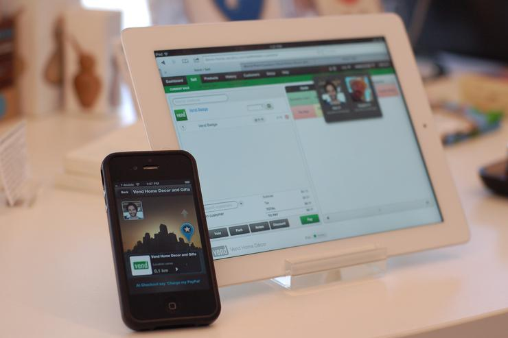 PayPal in-store payments using Vend software on the cloud. Credit: Vend