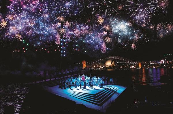 An artist's impression of Carmen staged in the Sydney Harbour by Opera Australia.