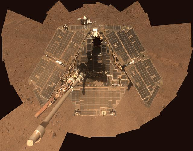 NASA's Mars Exploration Rover Opportunity is shown in this handout photo released to Reuters July 29, 2014.