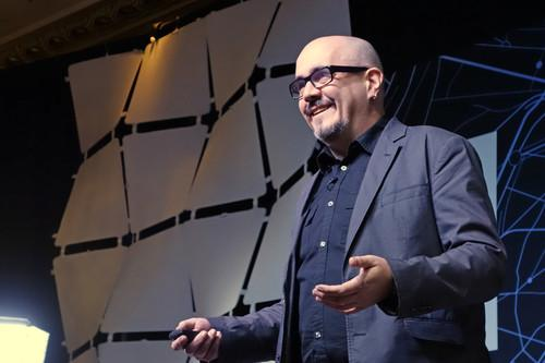 David McConville, president of the Buckminster Fuller Institute, spoke on Tuesday at the GreenBiz Verge conference in San Francisco
