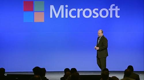 Microsoft chief operating officer Kevin Turner opened Microsoft's 2013 financial analyst meeting by disclosing that more than 55 percent of Microsoft's revenue comes from the enterprise, a number that he said Microsoft rarely discloses.