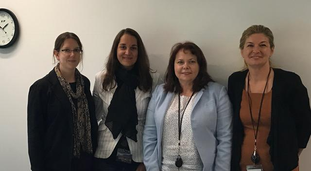 The information security team at the Ministry of Justice: Kathryn Cotterell, Chantelle van Wyk; Tina Wakefield (CIO) and Lana Tosic.