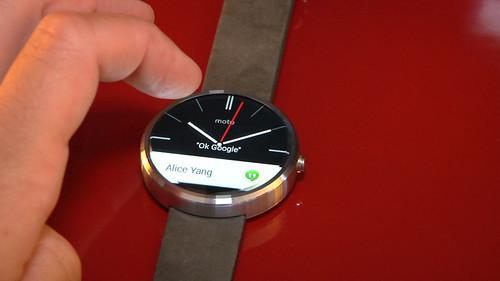 Motorola's Moto 360 smartwatch on show at IFA 2014 in Berlin