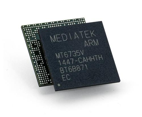 Mediatek chip, stock image