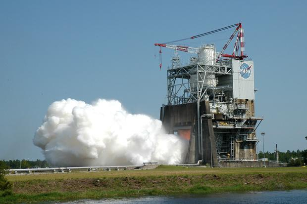 NASA successfully tested a RS-25 deep space rocket engine on Friday. The engine will be used to take humans to an asteroid and Mars. Credit: NASA