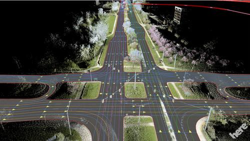 Nokia Here digital mapping technology.