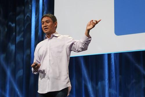 Omar Baldonado, manager of infrastructure software engineering at Facebook, spoke on Tuesday at the Open Compute Project Summit in San Jose, California.