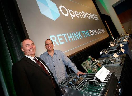At its inaugural summit, the OpenPower Foundation's chairman Gordon MacKean (left) and President Brad McCredie unveiled an expanding hardware ecosystem.