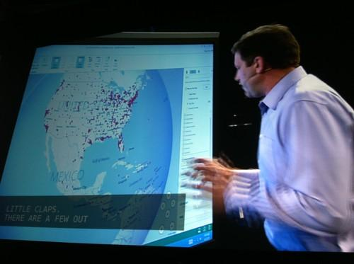 Microsoft demonstrates, At TechEd North America 2013, Project GeoFlow, an Excel add-on that can visualize geographic data
