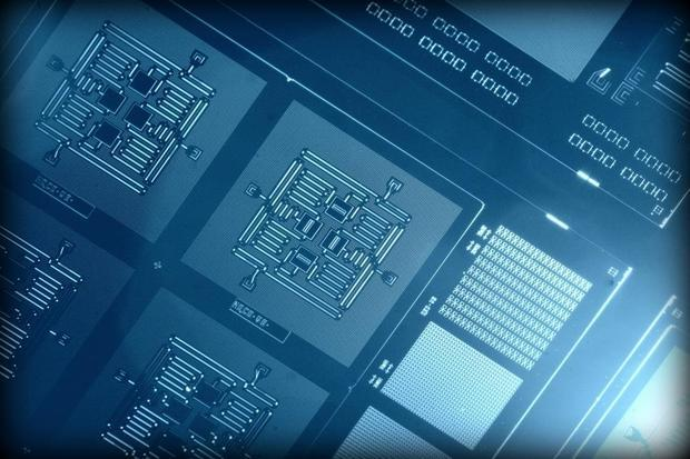 Using a new square quantum circuit design, IBM scientists are able to detect quantum errors for the first time. Credit: IBM Research