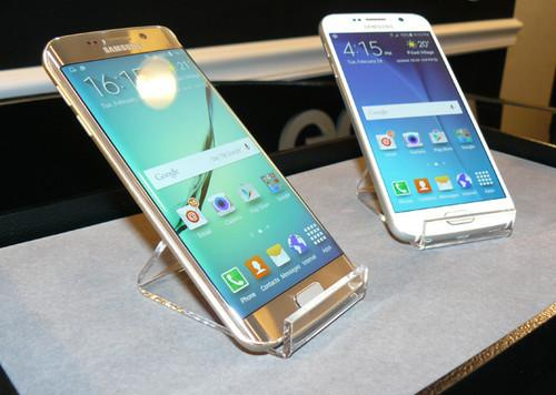 The Samsung Galaxy S6 edge in Galaxy S6
