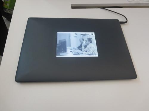 Intel's prototype laptop with second e-ink screen