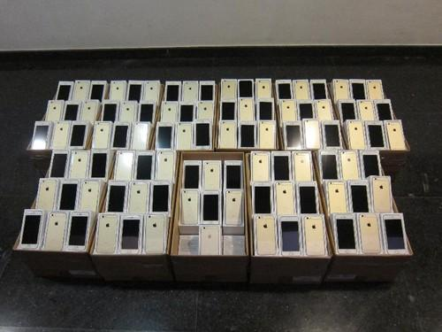 Smuggled iPhone seized by Hong Kong Customs.