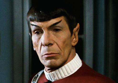 Leonard Nimoy in the role that made him famous - Spock in Star Trek