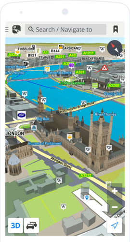 "Sygic claims to be ""the world's most installed offline navigation app,"" and it has downloadable 3D maps that span the globe."