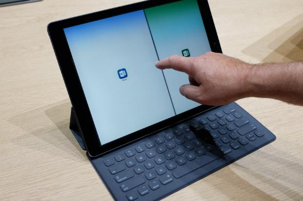 The iPad Pro with a Smart Keyboard. Credit: Matt Kapko
