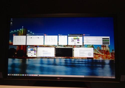 The new Windows 10 task view