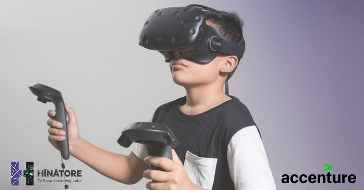 The Te Papa museum's state of the art learning lab, Hīnātore, is equipped with a virtual reality studio. It recently signed an agreement for Accenture to be its innovation partner in providing cutting edge technologies for the lab's learning programmes.