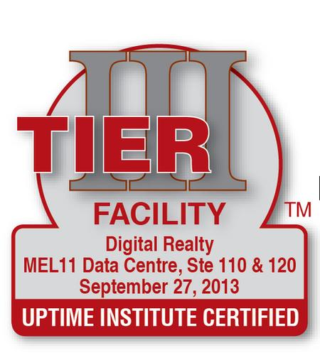 Uptime Institute logo for a Tier III constructed data center