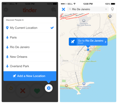 Tinder Plus also lets users search for people outside their regular geographic area.