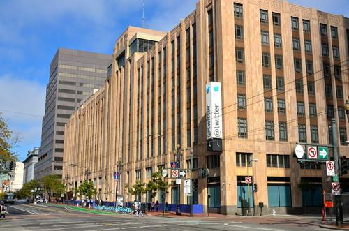 Twitter's headquarters on Market Street in San Francisco