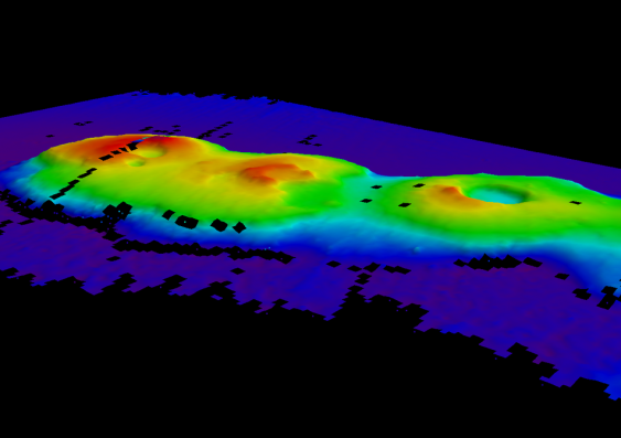 Heatmap of a volcanic cluster 248km off Sydney's coast