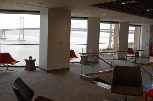 The Verizon Wireless Innovation Center in San Francisco has doubled its great views of the Bay Bridge by expanding to two floors.
