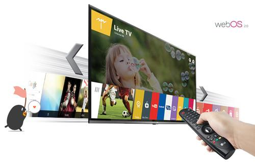 LG and WebOS TV, stock image