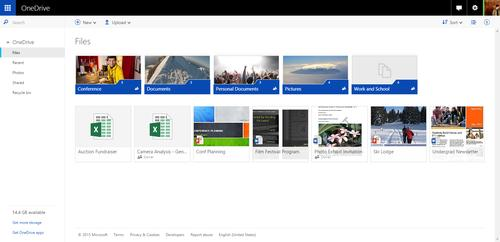 The Outlook web user interface