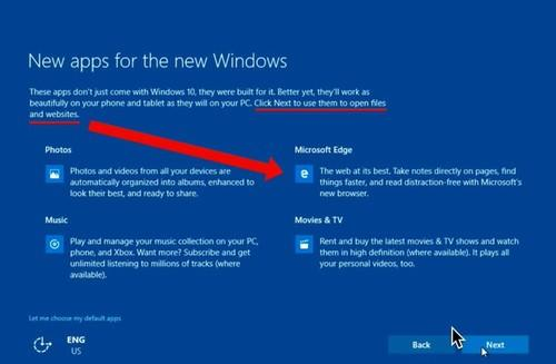 Windows 10's express settings during an upgrade make Edge the default browser, going so far as to switch from Firefox or Chrome, according to a video made by Mozilla in a test of July 2's build 10162.