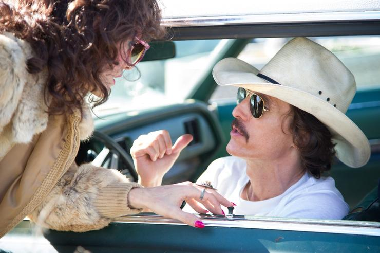 Jared Leto as Rayon and Matthew McConaughey as Ron Woodroof in Jean-Marc Vallée's fact-based drama, Dallas Buyers Club, a Focus Features release. Photo Credit: Anne Marie Fox/Focus Features