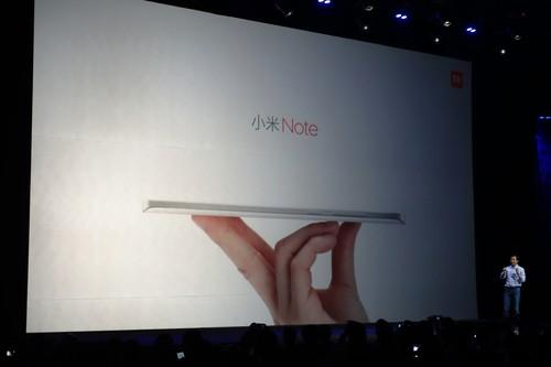 The Xiaomi Note is meant to be thinner and sleaker than the iPhone 6 Plus.